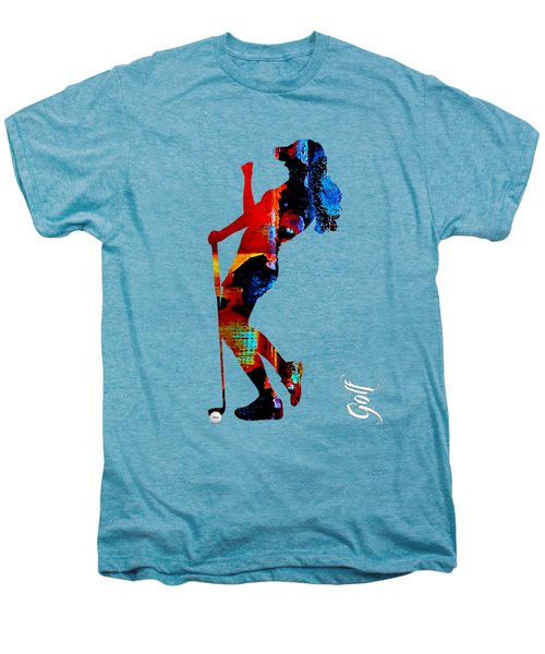 Womens Golf Collection Men's Premium T-Shirt by Marvin Blaine