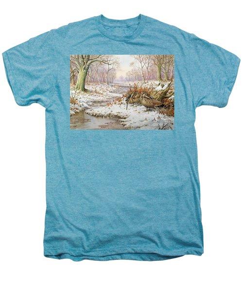 Woodcock Men's Premium T-Shirt by Carl Donner