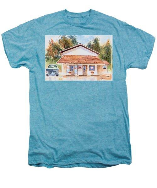 Woodcock Insurance In Watercolor  W406 Men's Premium T-Shirt by Kip DeVore