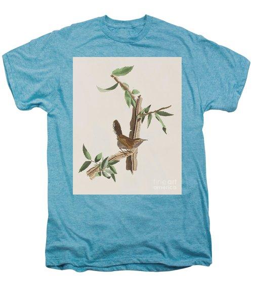Wren Men's Premium T-Shirt by John James Audubon
