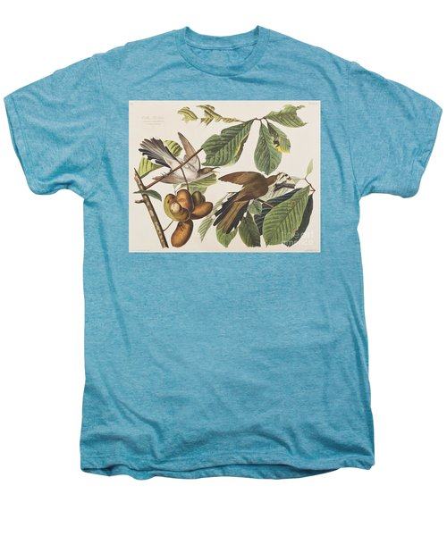 Yellow Billed Cuckoo Men's Premium T-Shirt by John James Audubon