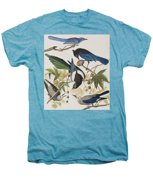 Yellow-billed Magpie Stellers Jay Ultramarine Jay Clark's Crow Men's Premium T-Shirt by John James Audubon