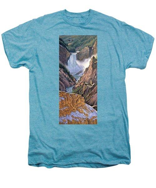 Yellowstone Canyon-osprey Men's Premium T-Shirt by Paul Krapf