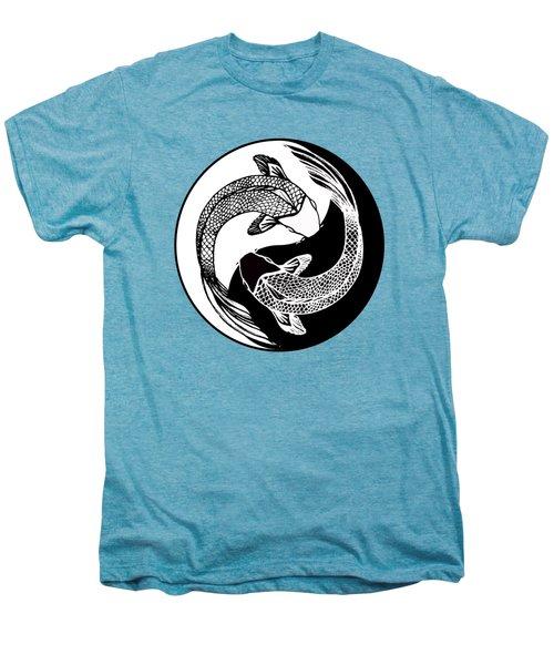 Yin Yang Fish Men's Premium T-Shirt by Stephen Humphries