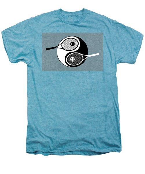 Yin Yang Tennis Men's Premium T-Shirt by Carlos Vieira