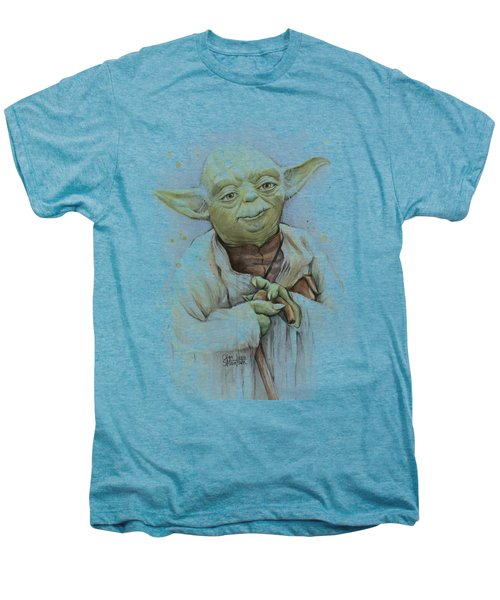 Yoda Men's Premium T-Shirt by Olga Shvartsur