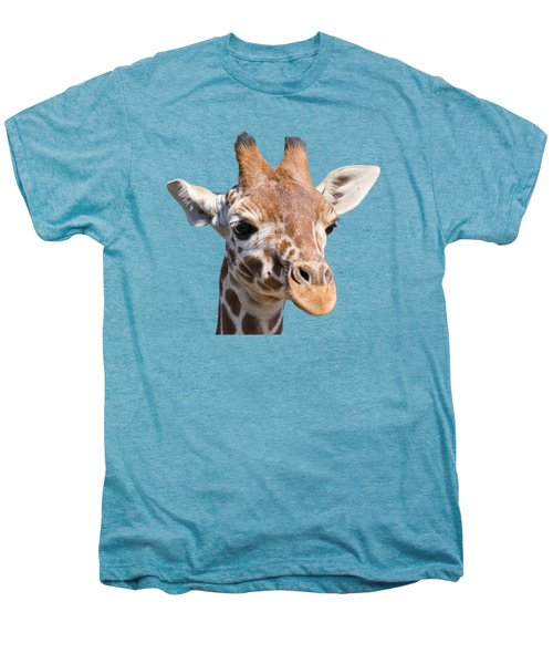 Young Giraffe  Men's Premium T-Shirt by Scott Carruthers