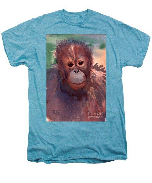 Young Orangutan Men's Premium T-Shirt by Donald Maier