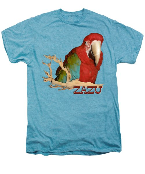 Zazu With Branch Men's Premium T-Shirt by Zazu's House Parrot Sanctuary