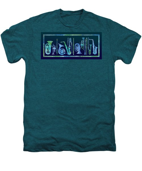 Cool Blue Band Men's Premium T-Shirt by Jenny Armitage