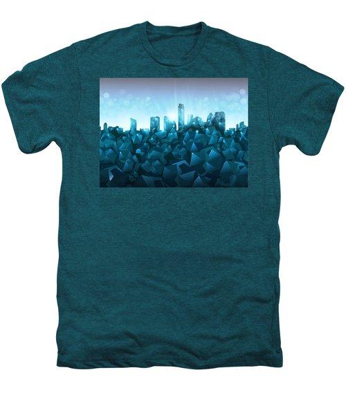 Austin Skyline Geometry 3 Men's Premium T-Shirt by Bekim Art