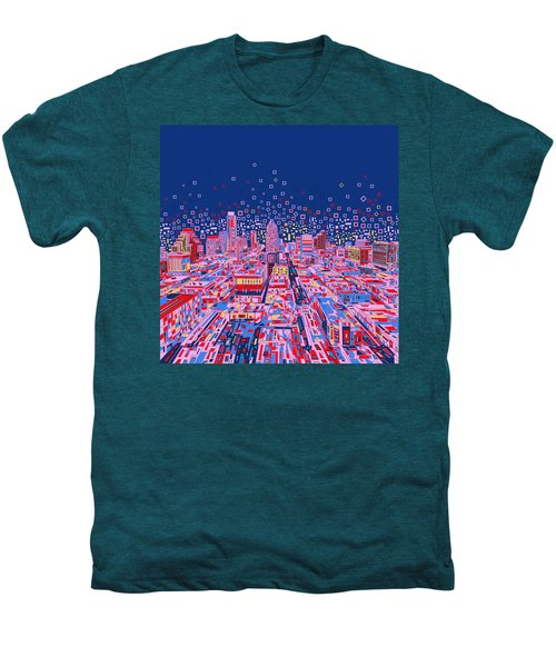Austin Texas Abstract Panorama Men's Premium T-Shirt by Bekim Art