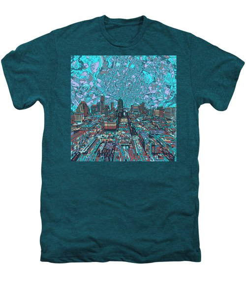 Austin Texas Vintage Panorama 4 Men's Premium T-Shirt by Bekim Art