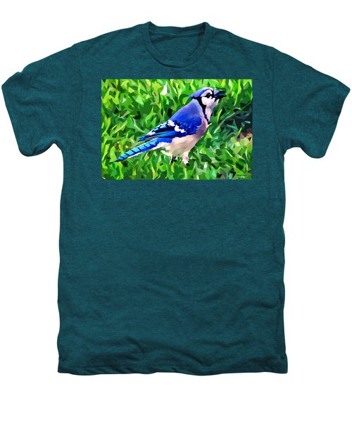 Blue Jay Men's Premium T-Shirt by Stephen Younts