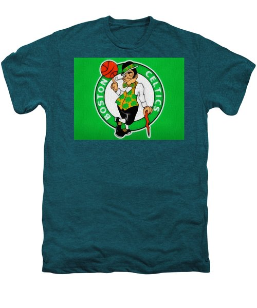 Boston Celtics Canvas Men's Premium T-Shirt by Dan Sproul