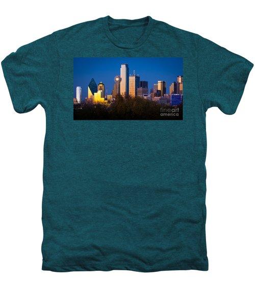 Dallas Skyline Men's Premium T-Shirt by Inge Johnsson