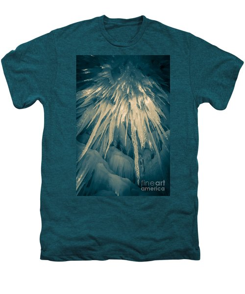 Ice Cave Men's Premium T-Shirt by Edward Fielding