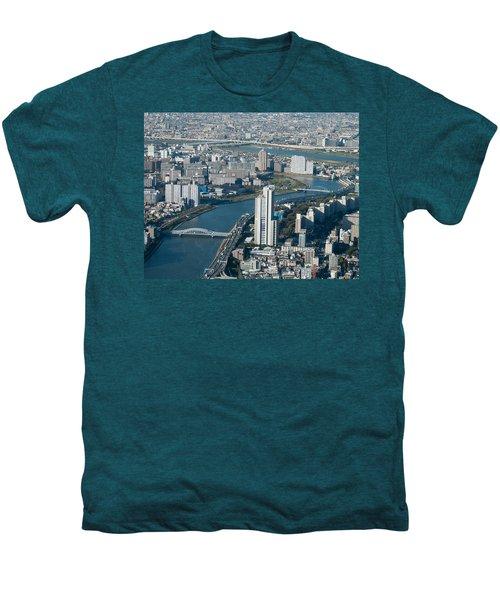 Panorama Of Tokyo Men's Premium T-Shirt by Jill Mitchell