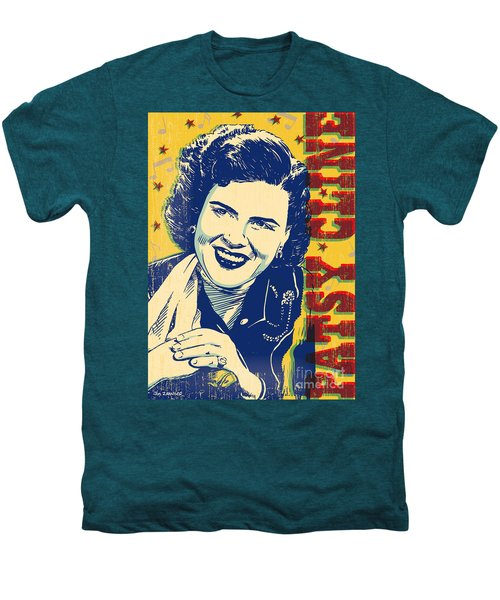 Patsy Cline Pop Art Men's Premium T-Shirt by Jim Zahniser