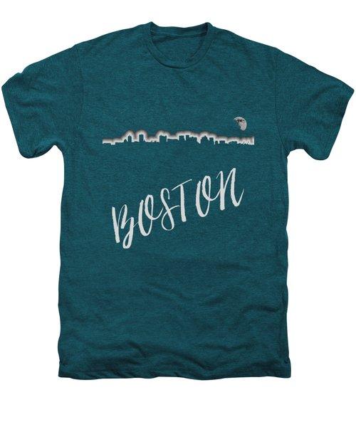 Boston Skyline Poster Men's Premium T-Shirt by Joann Vitali