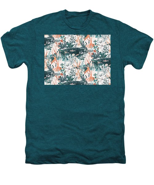 Kingfisher Men's Premium T-Shirt by Jacqueline Colley