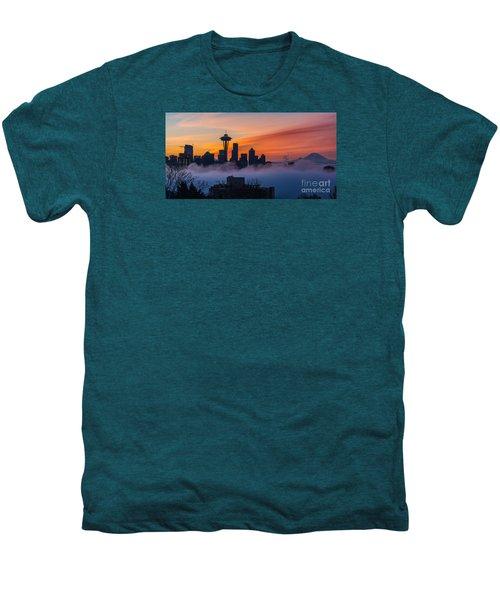 A City Emerges Men's Premium T-Shirt by Mike Reid