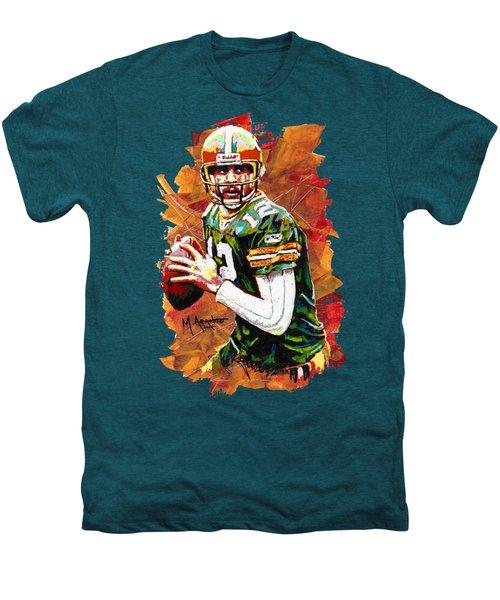 Aaron Rodgers Men's Premium T-Shirt by Maria Arango