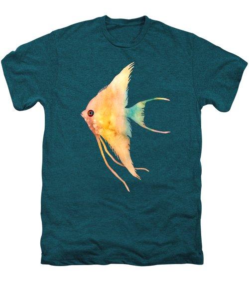 Angelfish II - Solid Background Men's Premium T-Shirt by Hailey E Herrera
