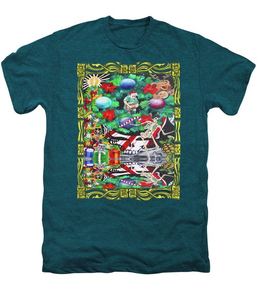 Christmas On The Moon Men's Premium T-Shirt by Kevin J Cooper Artwork