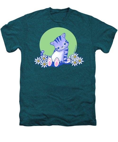 Yittle Kitty Men's Premium T-Shirt by Kim Niles