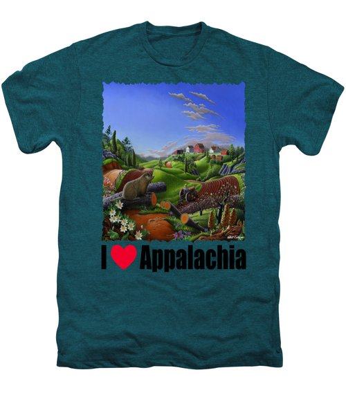 I Love Appalachia - Spring Groundhog Men's Premium T-Shirt by Walt Curlee