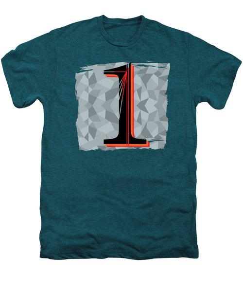 Number 1 One Men's Premium T-Shirt by Liesl Marelli