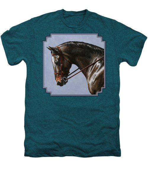 Horse Painting - Discipline Men's Premium T-Shirt by Crista Forest