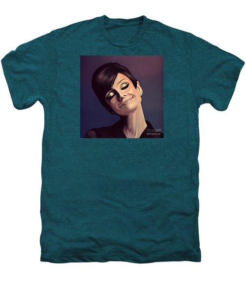 Audrey Hepburn Painting Men's Premium T-Shirt by Paul Meijering