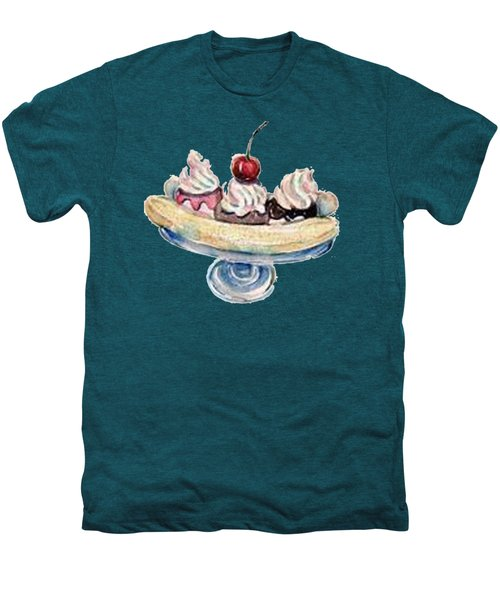 Banana Split T-shirt Men's Premium T-Shirt by Herb Strobino