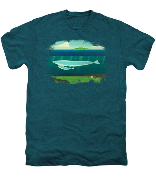 Blue Whale Men's Premium T-Shirt by David Ardil