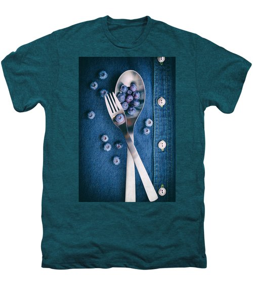 Blueberries On Denim II Men's Premium T-Shirt by Tom Mc Nemar