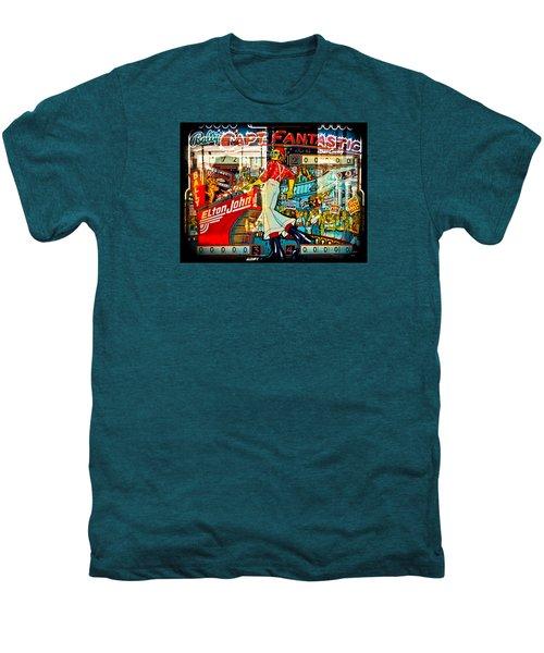 Captain Fantastic - Pinball Men's Premium T-Shirt by Colleen Kammerer