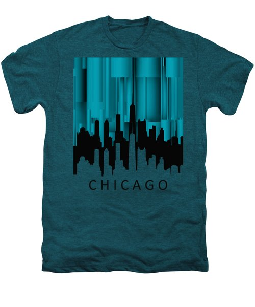 Chicago Turqoise Vertical Men's Premium T-Shirt by Alberto RuiZ