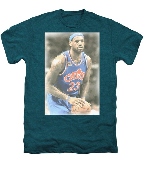 Cleveland Cavaliers Lebron James 1 Men's Premium T-Shirt by Joe Hamilton