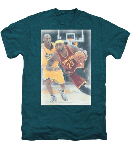 Cleveland Cavaliers Lebron James 3 Men's Premium T-Shirt by Joe Hamilton