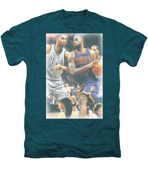 Cleveland Cavaliers Lebron James 4 Men's Premium T-Shirt by Joe Hamilton