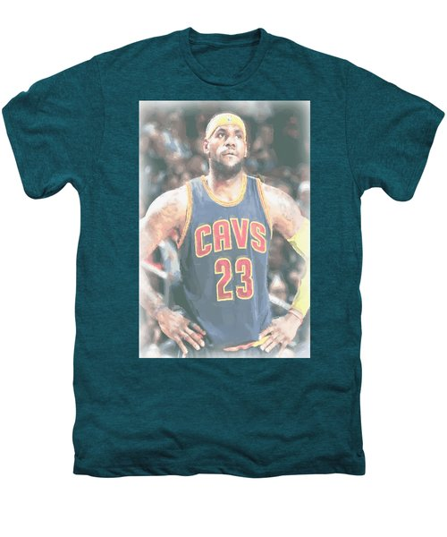 Cleveland Cavaliers Lebron James 5 Men's Premium T-Shirt by Joe Hamilton