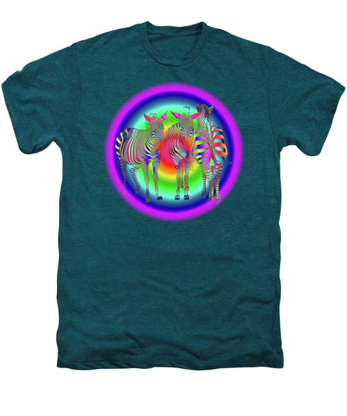 Disco Zebra Pop Art Men's Premium T-Shirt by Gill Billington
