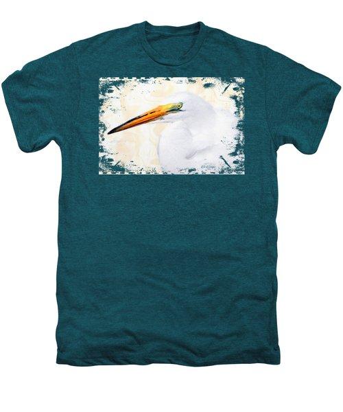 Egret Thoughts Signature Series Men's Premium T-Shirt by Di Designs