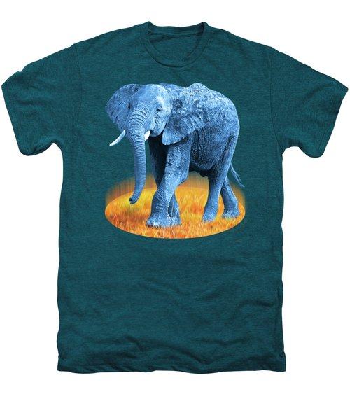 Elephant - World On Fire Men's Premium T-Shirt by Gill Billington