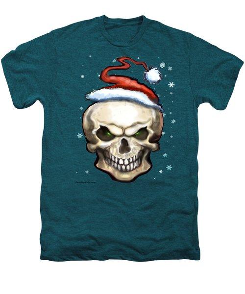 Evil Christmas Skull Men's Premium T-Shirt by Kevin Middleton