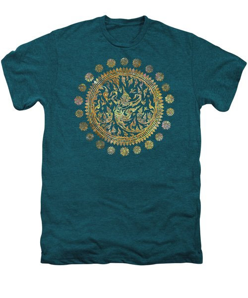 Garuda's Golden Victory - Color Edition Men's Premium T-Shirt by David Ardil