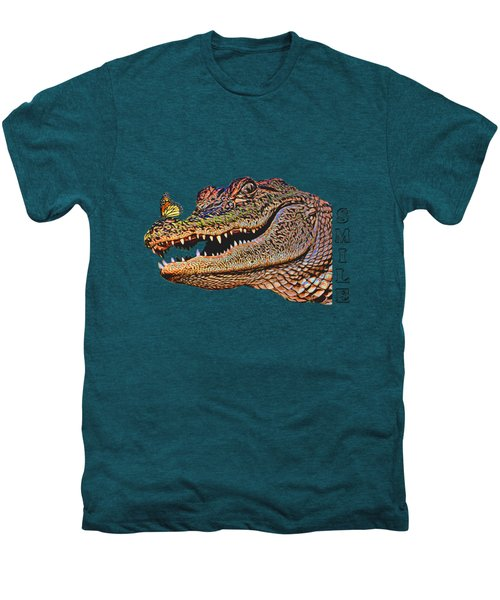 Gator Smile Men's Premium T-Shirt by Mitch Spence