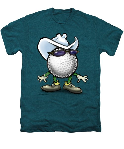 Golf Cowboy Men's Premium T-Shirt by Kevin Middleton